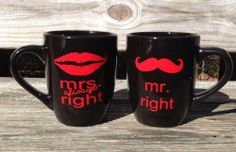 Amazon.com: Mr and Mrs Always Right Coffee Cup Set: Everything Else