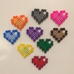 Colorful heart magne