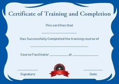 Free Training Completion Certificate Templates Free Training Completion Certificate Templates, People regularly get confused about getting ready for good template. They sometimes think that they sh. Certificate Of Completion Template, Free Certificate Templates, Certificate Format, Training Certificate, Certificate Of Achievement, Templates Printable Free, Pamphlet Template, Custom Calendar