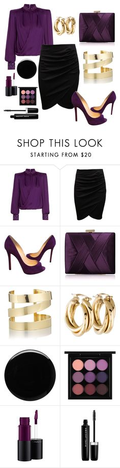 """✔️"" by sanela-enter ❤ liked on Polyvore featuring Balmain, Christian Louboutin, La Regale, Étoile Isabel Marant, Deborah Lippmann, MAC Cosmetics and Marc Jacobs"