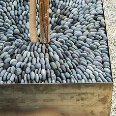 Get creative with mulch - How to Design a Zen Garden - Sunset: Could I do this with mesh backed tile?