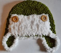 Crochet Baby Bomber Hat | Congratulations! You've just finished your own baby aviator hat! If ...