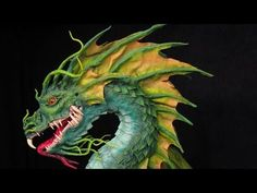 Gourmet Paper Mache- watch time-lapse video of Dan Reeder making a sea dragon