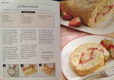 Jordbær-roulade