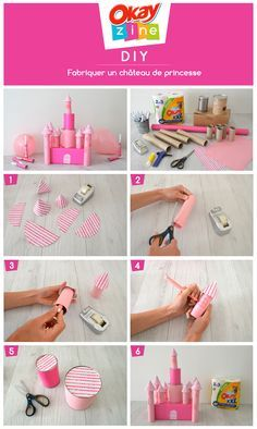 How to make a cardboard princess castle Disney Diy, Deco Disney, Craft Projects For Kids, Diy For Kids, Activities For Kids, Toilet Paper Roll Crafts, Cardboard Crafts, Cardboard Castle, Disney Princess Party