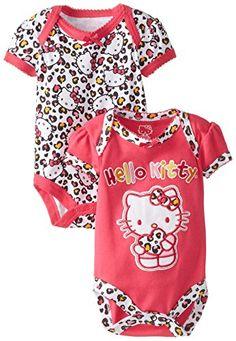 NEW Hello Kitty Baby-Girls Newborn 2 Pack Bodysuit Leopard Pink Months Reborn Baby Girl, Reborn Baby Dolls, My Baby Girl, Baby Girl Newborn, Baby Love, Baby Girls, Disney Baby Clothes, Cute Baby Clothes, Baby Disney