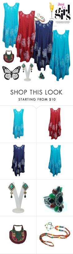 """Sleeveless Poncho Dress"" by era-chandok ❤ liked on Polyvore"