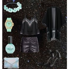 Designer Clothes, Shoes & Bags for Women Turquoise Party, Party Fashion, Wet Seal, Ruffle Blouse, Polyvore, Shopping, Collection, Black, Tops