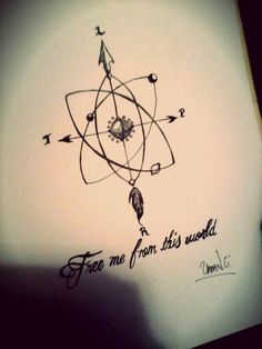 compass rose , solar system atom diagram tattoo  arrow, art, and drawing image