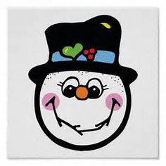 Cute Snowman Face Printable