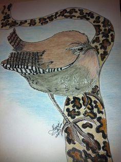 Stern and chunky bird by Theresa Groom