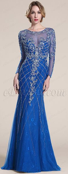 Sparkling blue gown! #edressit #prom_dress #evening_dress #fashion #2015