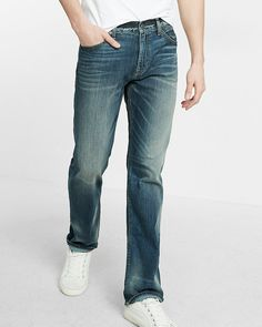 Classic Straight Stretch+ 365 Comfort Eco-friendly Jeans - 30x32