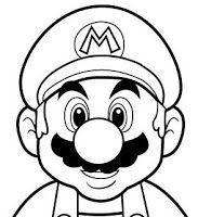Pin the mustache on Mario - Printable Mario face template - Google Search