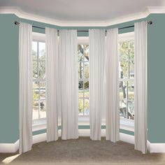 Rod Desyne Arman in. Bay Window Single Curtain Rod 20 in. - 36 in. 38 in. - 72 in. - - The Home Depot - Informationen zu Rod Desyne Arman in. Bay Window Single Curtain Rod 20 in. – 36 in. 38 in. Bay Window Living Room, Dining Room Windows, Bedroom Windows, Bay Window Bedroom, Bay Window Decor, Curtains For Bay Windows, Sash Windows, Casement Windows, Ideas For Bay Windows