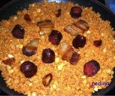 Migas andaluzas Spanish Kitchen, Spanish Dishes, Spanish Food, Food N, Mediterranean Recipes, Mexican Food Recipes, Food To Make, Cake Recipes, Cooking Recipes