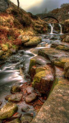 Three Shire Head Waterfall