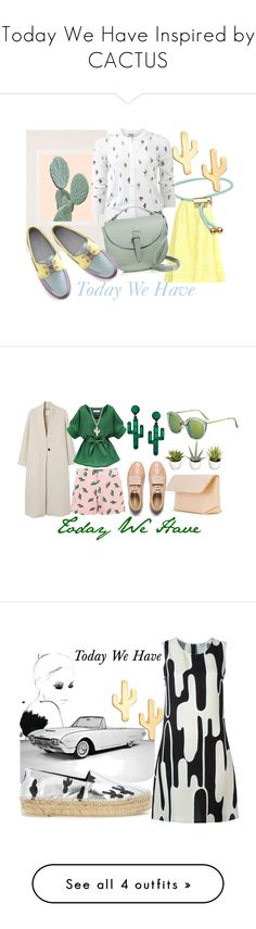 """Today We Have Inspired by CACTUS"" by kotynska-zielinska ❤ liked on Polyvore featuring Erdem, Urban Outfitters, Marc by Marc Jacobs, CAM, Kenzo, Meli Melo, American Retro, Acne Studios, MANGO and Iala Díez"