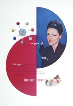 Jacqueline Cochran Cosmetics Ad, Designer Paul Rand, 1950
