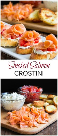 These smoked salmon crostini are simple to make, but complex in taste and texture. Quick and impressive appetizer in less than 30 minutes! via Sweet & Savory by Shinee