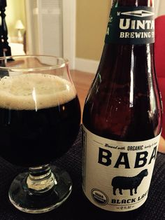 Uinta BaBa organic black lager. Nice light - moderate roasted malt with a touch of hoppiness. Nice that it's organic. It's not revolutionary, but I think I'd put this up among my favorite session beers.