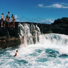 YOLO summer  girls ,  smile -  goals,  #in the middle  sun,  waterfalls