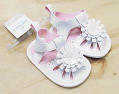 CARTERS Carter's Baby Girls White Patent Sandals Crib Shoes NWT #Carters #Sandals