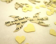 Hey, I found this really awesome Etsy listing at http://www.etsy.com/listing/120744826/book-page-bird-confetti-ivory-mini-heart
