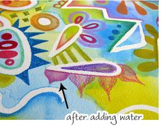 Watercolor Pencil Art Lesson: Colorful Whimsical Abstract Art Tutorial