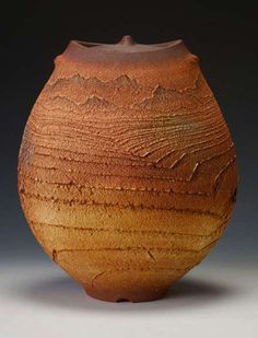 Matthew Allison, lidded pot – thrown, altered, handbuilt, stoneware