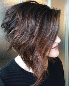 27 Best Stacked Bob Hairstyles of 2019 - Style My Hairs Wavy Bob Haircuts, Bob Hairstyles For Thick, Haircut For Thick Hair, Casual Hairstyles, Curly Hairstyles, Wedding Hairstyles, Medium Hair Cuts, Short Hair Cuts, Medium Hair Styles