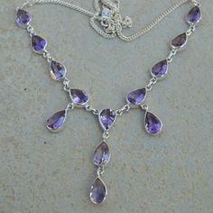 Amethyst NecklaceFebruary Birthstone Necklace by DevmuktiJewels
