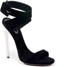 Zanotti 2013 Black suede cross-strap sandal