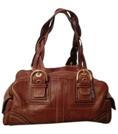 Coach Braided-handle With Classic Gold Har Cognac Bag - Satchel 71% off retail