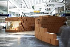 """living Nature"" Pavilion Made From Hundreds Of Cardboard Boxes"