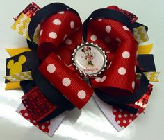 Personalized Minnie Mouse bow!