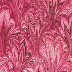 Marbled Paper handmade 9x12in red Thistle pattern by artonwater, $3.99