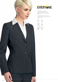 BLOOMSBURY JACKET A classic style that flatters most shapes. 4 Seams on the back to ensure a great fit for all sizes. #workuniformsdirect #uniform #corporate #business #fashion