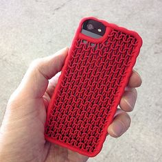 3d-printed-iphone-case. From own 3D printer or via service like Shapeways. Can also include sound thanks to SoundCloud. Unbelievable.