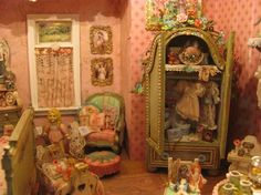 Miniature Dollhouse Girl's Room