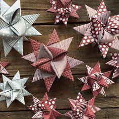 Frönelstern basteln Anleitung - New Ideas Paper Christmas Decorations, Christmas Crafts, Christmas Ornaments, Christmas Stars, Diy Arts And Crafts, Diy Crafts, Diy For Kids, Crafts For Kids, Diy Presents