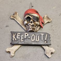 Halloween KEEP OUT sign Nautical Wooden by SEASTYLE