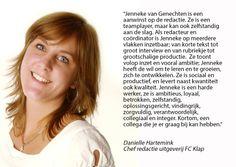 Aanbeveling Daniëlle Hartemink - Chef redactie uitgeverij FC Klap