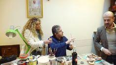 Leandra D'Andrea in Art. Ledy Napule con  lo scienziato Antonio Giordano e il maestro Marco Ferrigno