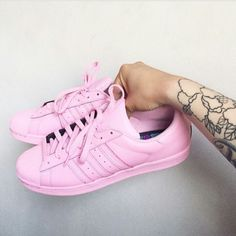 Sneakers For Girl : Picture Descriptionwww. Cute Sandals, Cute Shoes, Me Too Shoes, Cute Sneakers, Girls Sneakers, Zapatillas Super Star, Pink Adidas, Adidas Shoes, Snicker Shoes