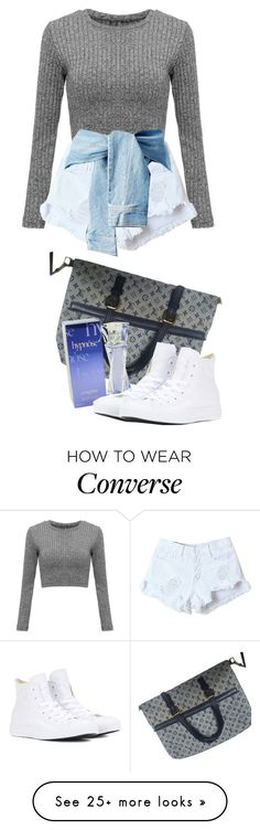 """""""Ootd"""" by kamication on Polyvore featuring Louis Vuitton, Lancôme and Converse"""