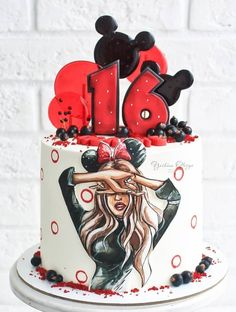 Happy Birthday Love Quotes, Girl Cakes, Sweet Cakes, Confectionery, Food And Drink, Birthday Cake, Inspiration, Naked, Drawing