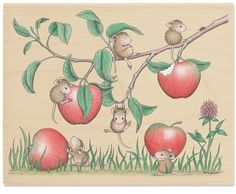 HMTR1048 Big Apple-Tite - House Mouse Rubber Stamps by Stampabilities