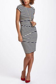 Cap Sleeve Column Dress #anthropologie