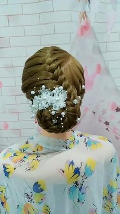 Cute Simple Hairstyles, Prom Hairstyles For Long Hair, Braids For Long Hair, Bride Hairstyles, Pretty Hairstyles, Hair Twist Styles, Front Hair Styles, Medium Hair Styles, Curly Hair Styles